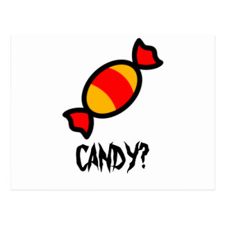 Süßigkeit Postkarte