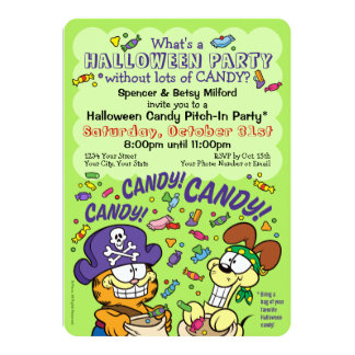 Süßigkeit! Süßigkeit! Süßigkeit! 12,7 X 17,8 Cm Einladungskarte
