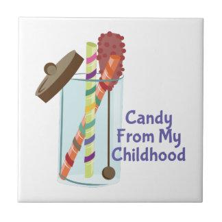 Süßigkeit von der Kindheit Kleine Quadratische Fliese