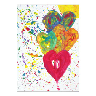 Süßigkeit wässert Autismus-Künstler 12,7 X 17,8 Cm Einladungskarte
