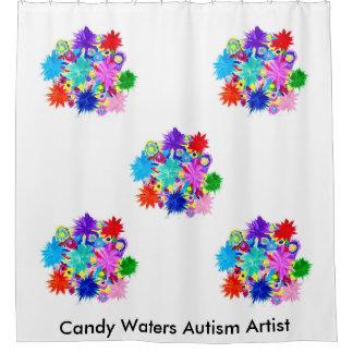 Süßigkeit wässert Autismus-Künstler Duschvorhang