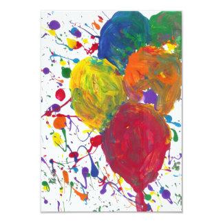 Süßigkeit wässert Autismus-Künstler 8,9 X 12,7 Cm Einladungskarte