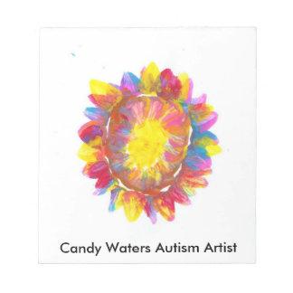 Süßigkeit wässert Autismus-Künstler Notizblock