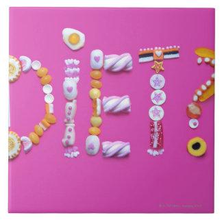 Süßigkeiten Große Quadratische Fliese