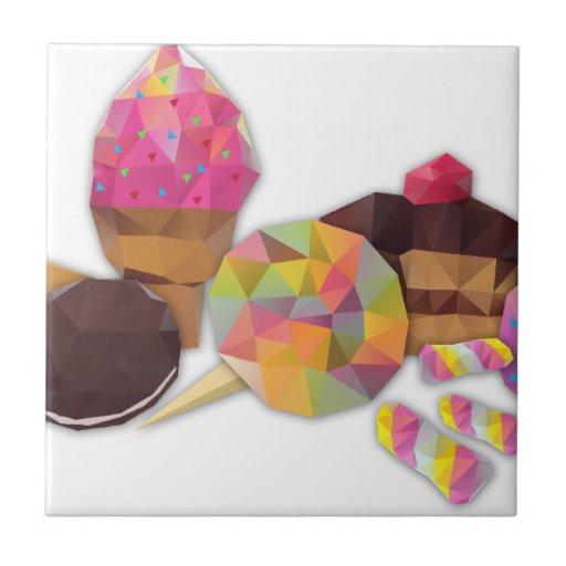 Süßigkeiten gemacht durch Dreiecke Keramikkachel