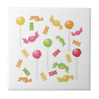 Süßigkeiten Kleine Quadratische Fliese