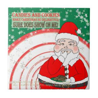 Süßigkeiten und Plätzchen-lustiges Weihnachten Kachel