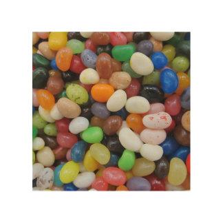 Süßigkeits-Beschaffenheits-Schablone blaues Grün Holzleinwände