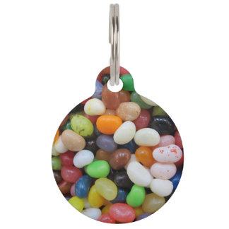 Süßigkeits-Beschaffenheits-Schablone blaues Grün Tiermarke Mit Namen