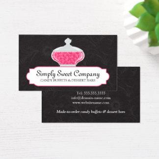 Süßigkeits-Buffet-und Visitenkarte