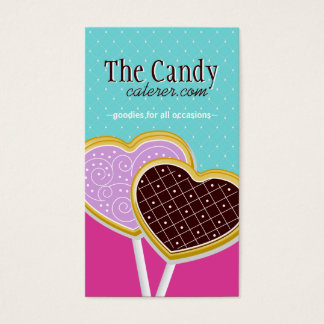 Süßigkeits-Catering-Geschäfts-Karten Visitenkarte