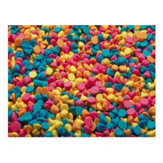 Süßigkeits-Chips - Postkarte