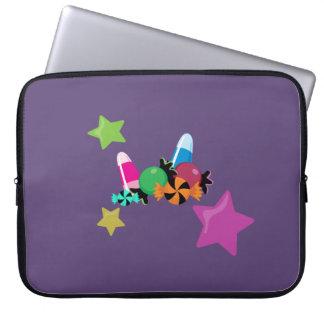 Süßigkeits-Collagen-Halloween-Entwurf Laptop Sleeve