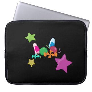 Süßigkeits-Collagen-Halloween-Entwurf Laptopschutzhülle