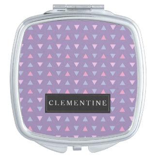 Süßigkeits-Farbdreieck-Muster Taschenspiegel