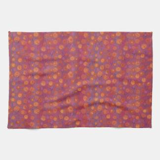 Süßigkeits-Feld, abstraktes Blumenmuster, rosa Küchentuch