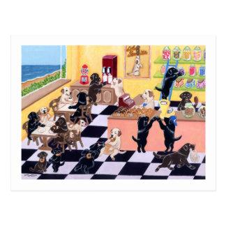 Süßigkeits-Geschäft Labradors Postkarte