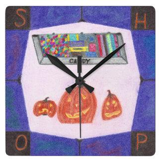 Süßigkeits-Geschäfts-Stoppuhr Quadratische Wanduhr