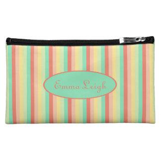 Süßigkeits-Glas-vertikale Streifen personalisiert Kosmetiktasche