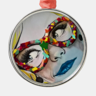 Süßigkeits-Glasdekoration Silbernes Ornament