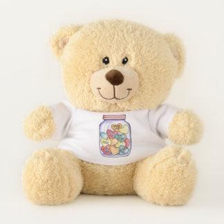 Süßigkeits-Herz-Glas Teddybär