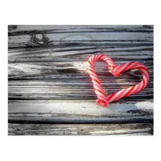 Süßigkeits-Herz-Postkarte