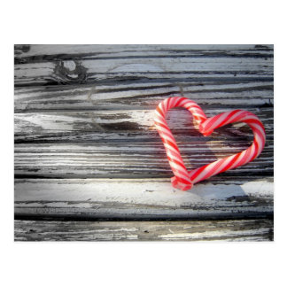 Süßigkeits-Herz-Postkarte Postkarte