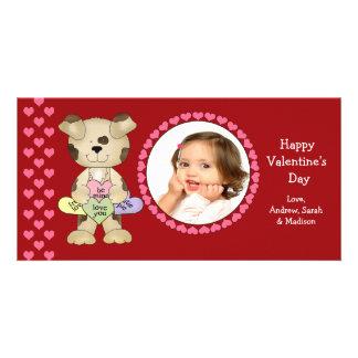 Süßigkeits-Herz-Valentinstag Fotogrußkarten
