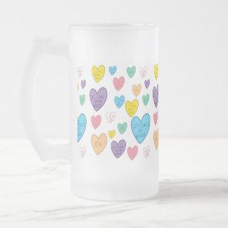 Süßigkeits-Herzen Mattglas Bierglas