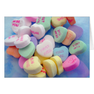 Süßigkeits-Herzen Mitteilungskarte