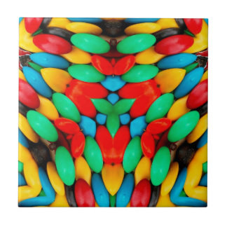 Süßigkeits-Kaleidoskop Kleine Quadratische Fliese