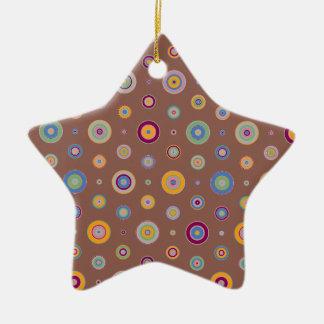 Süßigkeits-Kreise Keramik Stern-Ornament