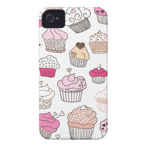 Süßigkeits-Kuchenmuster des kleinen Kuchens süßes iPhone 4 Case-Mate Hülle