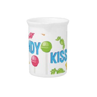 Süßigkeits-Küsse Getränke Pitcher