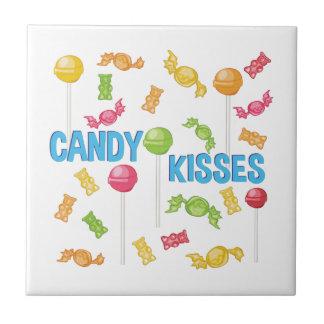 Süßigkeits-Küsse Kleine Quadratische Fliese