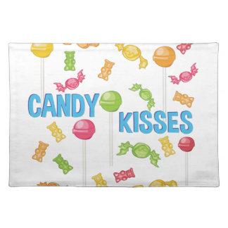 Süßigkeits-Küsse Stofftischset
