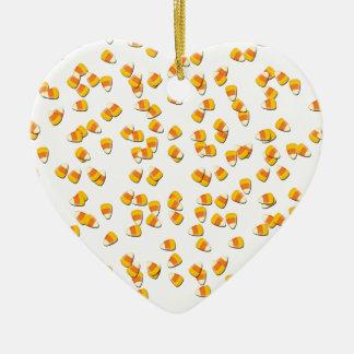 Süßigkeits-Mais Keramik Herz-Ornament