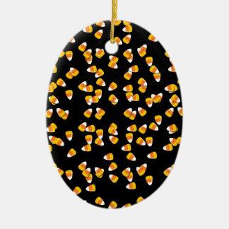 Süßigkeits-Mais Ovales Keramik Ornament