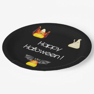 Süßigkeits-Mais-Schläger-Dracula-Mama Halloween Pappteller