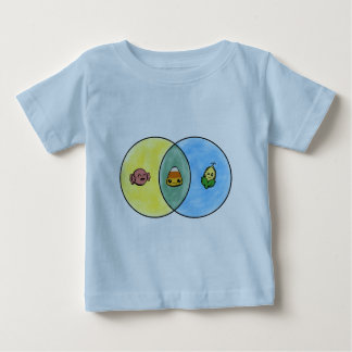 Süßigkeits-Mais Venn Diagramm Baby T-shirt