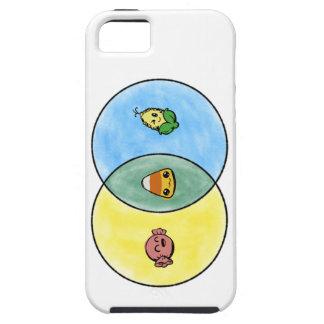 Süßigkeits-Mais Venn Diagramm Etui Fürs iPhone 5