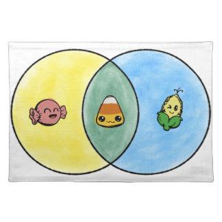 Süßigkeits-Mais Venn Diagramm Tischset