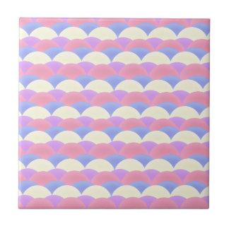 Süßigkeits-Meerjungfrau-Fisch-Skala-Entwurf Kleine Quadratische Fliese