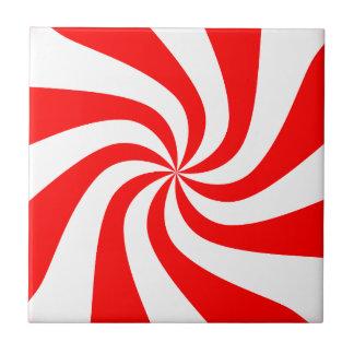 Süßigkeits-Musterentwurf des Rotes gewundener Keramikkachel