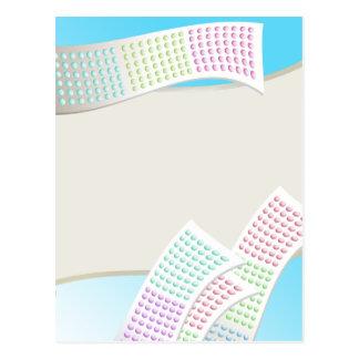 Süßigkeits-Punkte Postkarte