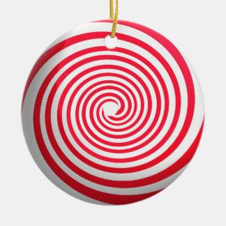 Süßigkeits-Spirale Rundes Keramik Ornament