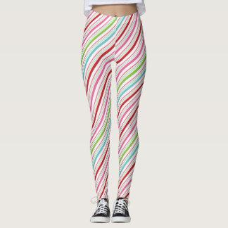 Süßigkeits-Streifen fröhlich und hell Leggings
