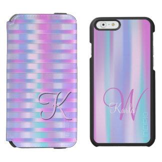 Süßigkeits-Streifen mit Namen und Initialen Incipio Watson™ iPhone 6 Geldbörsen Hülle
