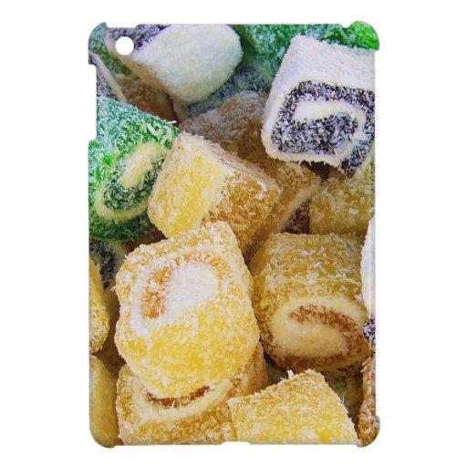Süßigkeits-Süßigkeitens-Nachtisch-FriedensLiebe-Pa iPad Mini Hüllen