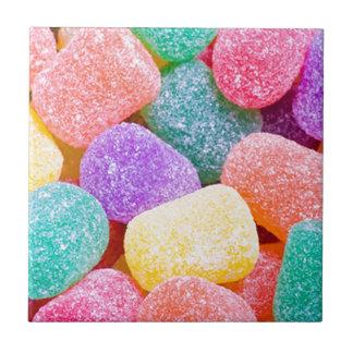 Süßigkeits-Tropfen Kleine Quadratische Fliese